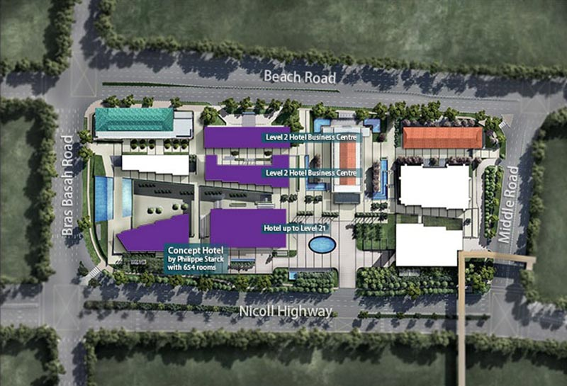 South Beach Residences Hotel Site Plan