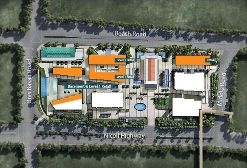 South Beach Residences Retail Site Plan